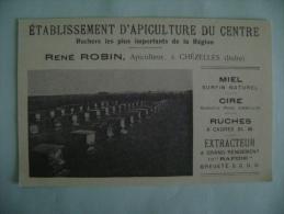 CP CHEZELLES -ETABLISSEMENT D APICULTURE DU CENTRE -RENE ROBIN - Francia