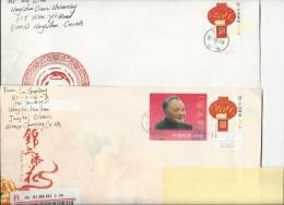 Chine: 2 Lettres (1 En Recommandé) - 1949 - ... People's Republic