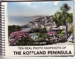 Souvenir Booklet Roseland Peninsula Cornwall 10 Real Photo Hand Coloured - Géographie