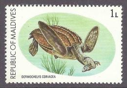 Maldives Fauna - Dermochelys Coriacea, Tortoise, Tortue, Fauna, Marine Life MNH - Malediven (1965-...)