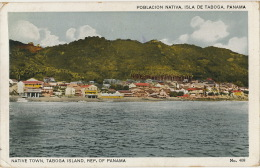 Isla De Taboga Poblacion Nativa No 408 Ship Postmark Paquebot On British Stamp Edicion Maduro - Panama