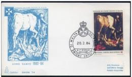 SMOM 1984 Anno Santo Straordinario 1983/84 Serie Cpl. 1v. Su Busta FDC Viaggiata - Malte (Ordre De)