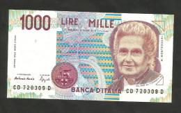 REPUBBLICA ITALIANA - 1000 Lire MONTESSORI - (Firme: Fazio / Speziali) - ITALIA - [ 2] 1946-… : Repubblica