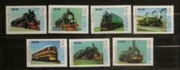 Ouzbékistan O´Zbekiston 1999 N° 131 / 7 ** Train, Chemin De Fer, Locomotive à Vapeur, Electrique, Electricité, Rail - Uzbekistan