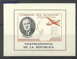 Ecuador 1949 Mi Die BlD15 MNH - Airplan, Map, Famous People - Flugzeuge