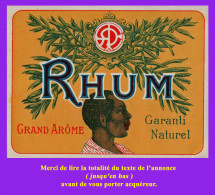 Étiquette Ancienne N°2 De RHUM. Distillerie Indéterminée. Parfait état. Voir Description Bien Détaillée. - Rhum