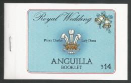 Anguilla. 1981 Royal Wedding. Booklet ( 50c X 4, $3 X4) - Anguilla (1968-...)