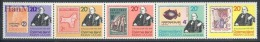 Christmas Islands 1979 Mi fun115-119 MNH - Rowland Hill, stamps on stamps, fishes, mosaic, angels, maps