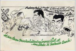 Boxe Cohen Charles Raymond Dessin Siro Carton Bonne Année Format 19x32cm état Superbe - Announcements