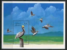 (CL 44 Bis) Antigua ** Bloc N° 136 - Oiseaux : Pélicans - Antigua And Barbuda (1981-...)
