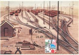 D17834 CARTE MAXIMUM CARD FD 2009 NETHERLANDS - TRAIN RAILS ROOSENDAAL - DETAIL ON STAMP CP ORIGINAL - Eisenbahnen