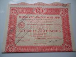 CHARBONS ACTIFS Et PROCEDES EDOUARD URBAIN (250 Francs) 1927 - Ohne Zuordnung