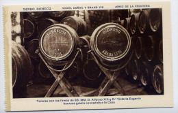 Espagne-JEREZ DE LA FRONTERA - Pedro DOMECQ - Vinos Conac Y Grand Vin-Tonales Con Firmas Alfonso XIII...........  éd HMS - Espagne