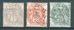Collection LEVANT ; Colonie ; 1902-20 ; Y&T N° 9-11-13 ; Lot N° ; Oblitéré - Levant (1885-1946)