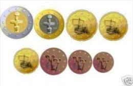 Cyprus  2012    De Volledige Set Van 8 Munten / 8 Pieces De 1ct A 2 Euro .     UNC Uit De Rol  UNC Du Rouleaux - Chipre