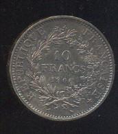 10 FRANCS  1966  ZILVER - Frankrijk