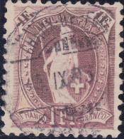 Heimat NE Chaux De Fonds 1895-09-05 Auf 1Fr. Lila Stehende Helvetia Zu#71Ca - 1882-1906 Armoiries, Helvetia Debout & UPU