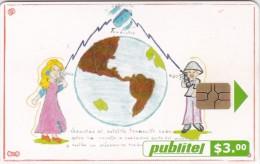 El Salvador, ELS-PUB-048a, Satélite Traductor, 2 Scans.  Chip : GEM - El Salvador