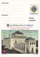 LIONS CLUB, BUCHAREST ARTELORI PALACE, PC STATIONERY, ENTIER POSTAL, 1999, ROMANIA - Rotary, Lions Club