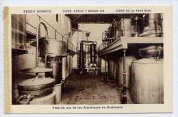 Espagne-JEREZ DE LA FRONTERA - Pedro DOMECQ - Vinos Conac Y Grand Vin-Vista Alambique De Distilacion ....... éd HMS - Espagne