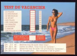 CPM Neuve Humoristique  Le Test Du Vacancier Femme Seins Nus - Humor