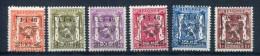 Belgium - Preoblit 1946 - Complete Series PREO30 - (PRE547/552) - MNH ** - Prematasellados