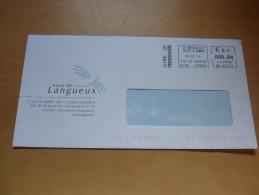 """Lettre VILLE DE LANGUEUX (22) Avec EMA """"ST BRIEUC CTC (22) - 0,64€"""" - France"""