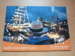 """CPM """"Brest 2016"""" (voiliers, Panama, Finistère (29) - Voiliers"""