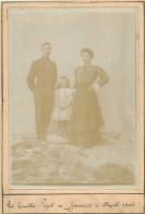 MILITARIA  Photo Format  210 X 145   157 Régiment  Alpins Militaire Et Sa Famille 1906 - Documents