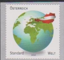 """Österreich 2012:  """"Standardmarke  Welt"""" 1,70€ Postfrisch (siehe Foto/Scan) - 1945-.... 2nd Republic"""