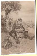 CPA La Correspondance Militaire 1914 George Scofe Militaria Militaire Soldat - Oorlog 1914-18