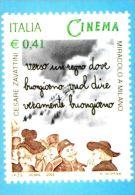 [DC0519] CARTOLINEA - RIPRODUZIONE DEL FRANCOBOLLO PER IL CENTENARIO DEL CINEMA - MIRACOLO A MILANO - CESARE ZAVATTINI - Briefmarken (Abbildungen)