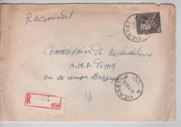 TP 848A Poortman S/L.recommandée C.Vierset En 1965 V.Liège AP688 - Lettres & Documents