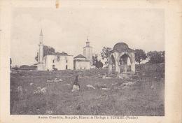 YENIDZE / ANCIEN CIMETIERE / MOSQUEE / MINARET ET HORLOGE/ CIRC 1918 / TTBE - Grèce