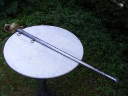 Epée D´officier  Superieur  ,foureau Metal  ,lame  Datée 1855 - Armes Blanches