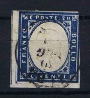 Italy Sardinia: 1855 Sa 15, Mi. 12 Used Obl. - Sardaigne