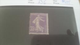 LOT 215503 TIMBRE DE FRANCE NEUF** N�136 VALEUR 425 EUROS