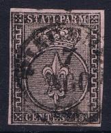 Italy Parma 1852 Sa 3, Mi. 3  Used,  Light Fold At Top - Parma