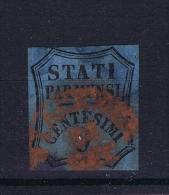 Italy Parma 1852 Sa 2, Mi. 1  Used, Red Cancel, No Certificate Present. - Parma