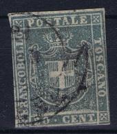 Italy  Toscana 1860  Sa 20, Mi. 20 B  Used Obl. Grey Blue - Tuscany