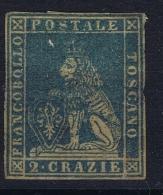 Italy  Toscana 1851  Sa  13, Mi.13 MH/* Some Damage - Toscane
