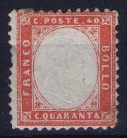 Italy  1862  Sa  3 , Mi 11 MH/* - 1861-78 Vittorio Emanuele II