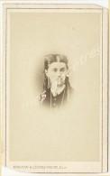 CDV Identifiée 1868-Maria Justine Delphine JOURDAIN 1838-1892 à Tourcoing ép. ROUSSEL-photo Maujean Dubois Paris - Old (before 1900)