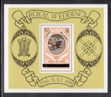 Caicos Islands MNH Scott #11 Souvenir Sheet $2 Glass Coach - Royal Wedding Charles & Diana - Turks & Caicos (I. Turques Et Caïques)