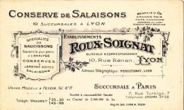 LYON ETABLISSEMENT ROUX_SOIGNAT CONSERVE DE SALAISONS - Karten