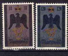 """Liechtenstein (1956)  - """"150° Anniversaire De La Souveraineté"""" Neufs* - Liechtenstein"""