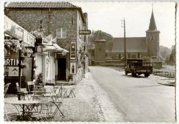 E3768  - FOURON - SAINT - PIERRE  -  Village *café*publicité Jupiler - SPA - Stella Artois - Martini - Coca Cola*camion* - Voeren