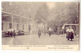 E3476  -  FOURON - LE -COMTE  -  Etablissements Des Ursulines  - 7. Cours Des Jeux  *1908* - Voeren