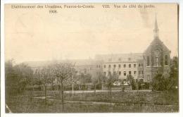 E3477  -  FOURON - LE -COMTE  -  Etablissements Des Ursulines  - 8. Vue Du Côté Du Jardin  *1908* - Voeren