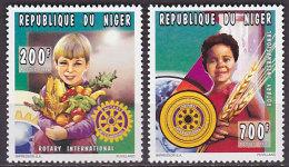 Série De 2 TP Neufs ** N° 859/860(Yvert) Niger 1996 - Anniversaire Du Rotary International - Niger (1960-...)